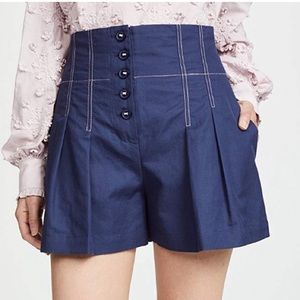 Rebecca Taylor flared shorts with seam detail
